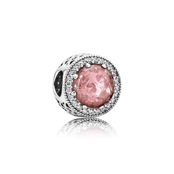 Radiant Hearts, Blush Pink Crystal Clear Cz