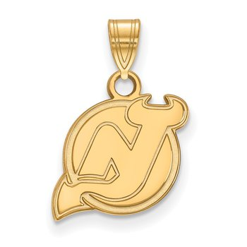 Gold New Jersey Devils NHL Pendant