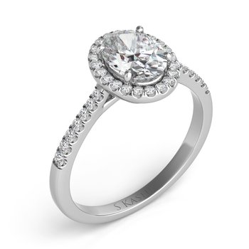 Platinum Halo Engagement Ring