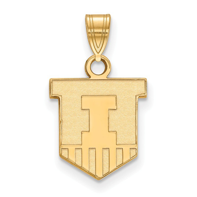 NCAA Gold-Plated Sterling Silver University of Illinois NCAA Pendant