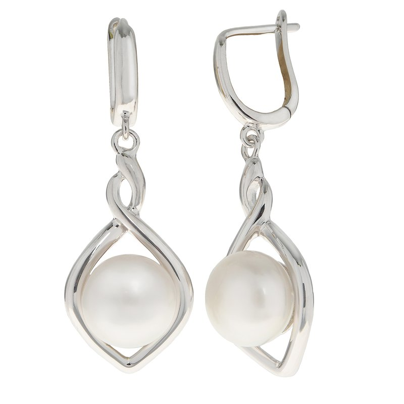 Imperial Pearl Sterling Silver Freshwater Pearl Earrings