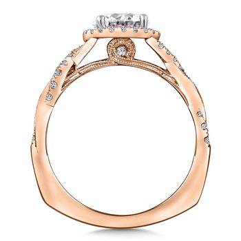 Diamond Engagement Ring Mounting in 14K Rose Gold (1/4 ct. tw.)