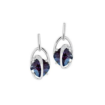 Alexandrite Earrings-CE4199WAL