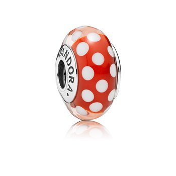 Disney, Minnie's Signature Look Charm, Murano Glass
