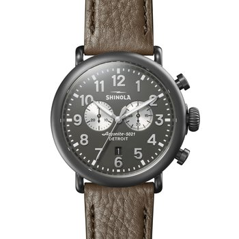 Runwell Chrono 47mm, Walnut Leather Strap