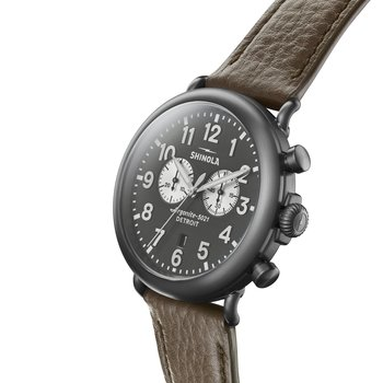The Runwell Chrono 47mm Quartz Movement Grey Dial Men's Watch