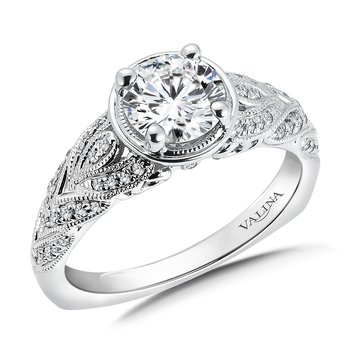 Diamond Engagement Ring Mounting in 14K White Gold (.19 ct. tw.)