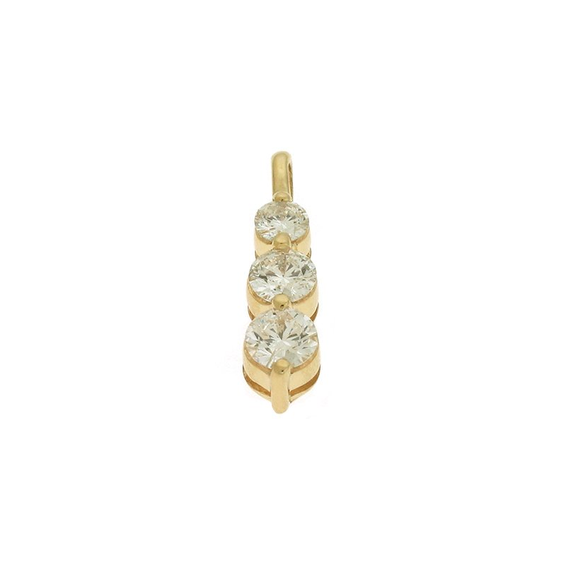 S. Kashi  & Sons Three Stone Prong Charm