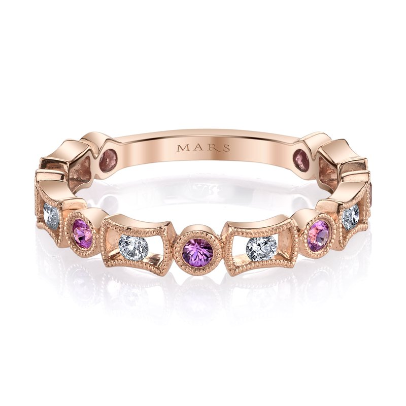MARS Jewelry MARS 26211RGPS Stackable Ring, 0.18 Dia, 0.26 P Saph.