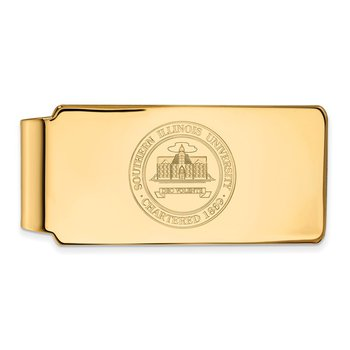 Gold-Plated Sterling Silver Southern Illinois University NCAA Money Clip