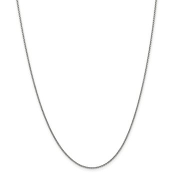 Leslie's 14K White Gold 1.4mm Round Cable Chain