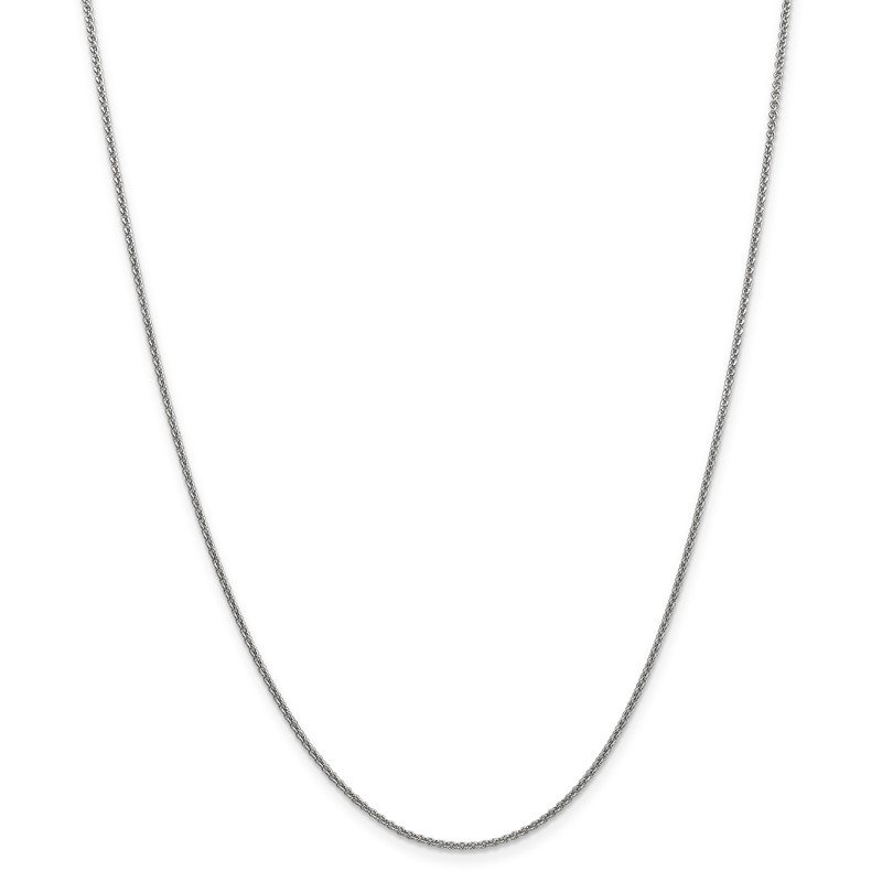 Leslie's Leslie's 14K White Gold 1.4mm Round Cable Chain