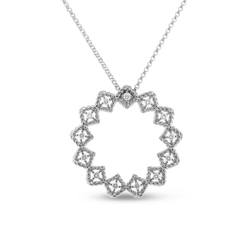 #19376 Of Large Diamond Circle Necklace