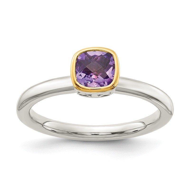 Shey Couture Sterling Silver w/ 14K Accent Amethyst Ring