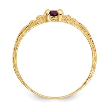 14k Madi K 3mm Ruby Birthstone Baby Ring