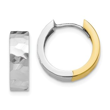 Leslie's 10k Two-tone Polished D/C Hoop Earrings