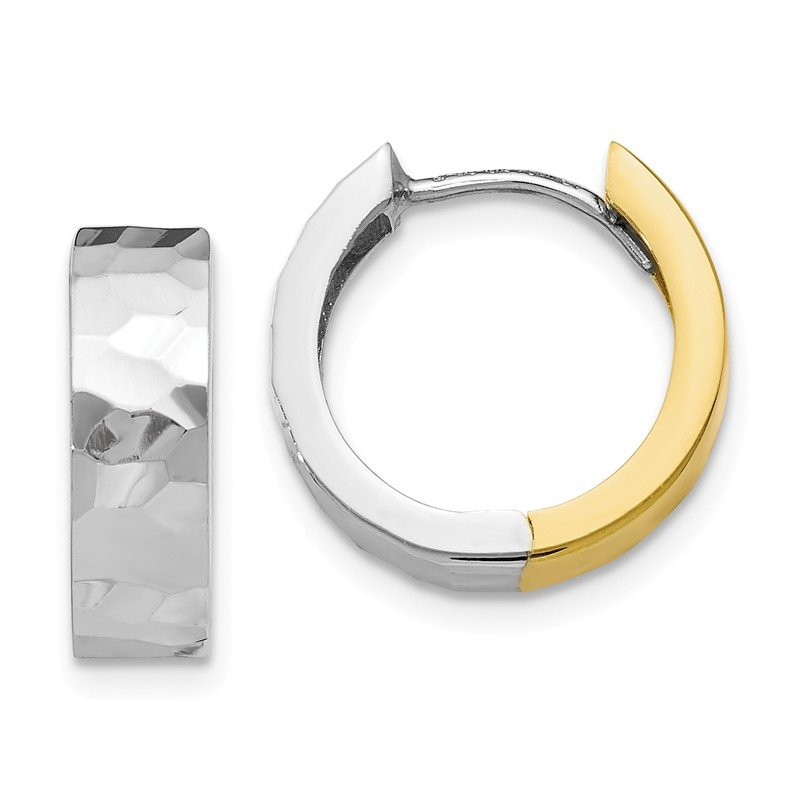 Leslie's Leslie's 10k Two-tone Polished D/C Hoop Earrings