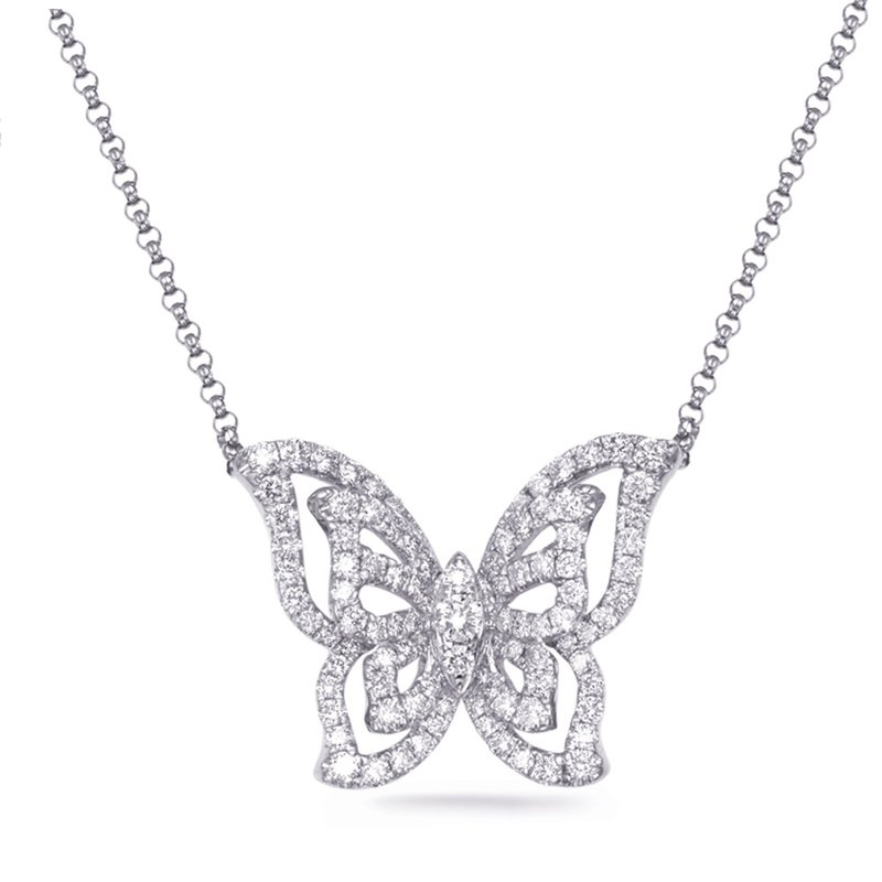 Briana White Gold Diamond Necklace