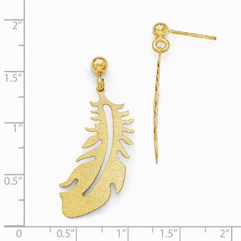 Leslie's Sterling Silver Gold Plated Scratch Finish Earrings