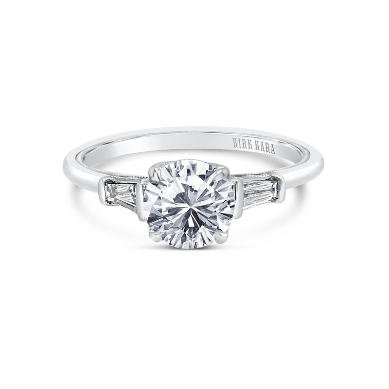 Home Try On Three Stone Baguette Replica Engagement Ring