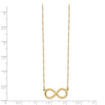 14K Polished Infinity Necklace