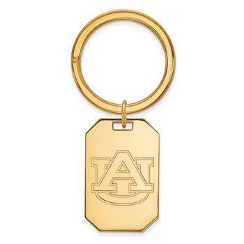 Gold-Plated Sterling Silver Auburn University NCAA Key Chain