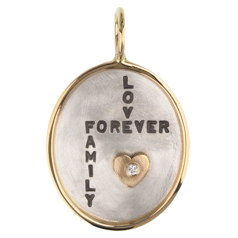 Heather B. Moore Love Forever Famil Oval Charm