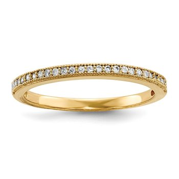 Sterling Silver Brilliant Embers Gold-plated CZ Polished Ring