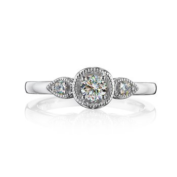 3 Stone Petite Engagement Ring 1/3 CTTW