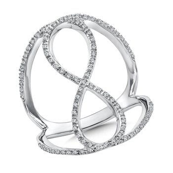 Open Infinity Diamond Ring in 14K White Gold (1/4 ct. tw.)
