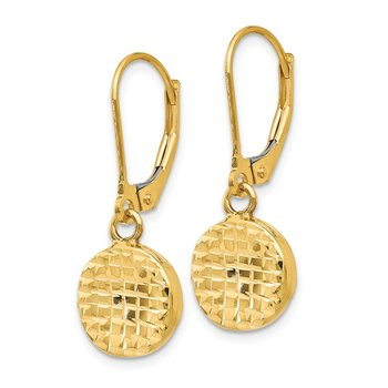 Leslie's 14K Polished D/C Leverback Earrings