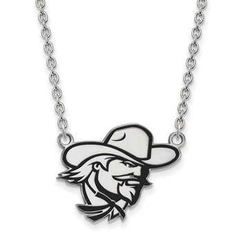 Sterling Silver Eastern Kentucky University NCAA Necklace