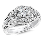 Valina Bridals Diamond Engagement Ring Mounting in 14K White Gold (.14 ct. tw.)