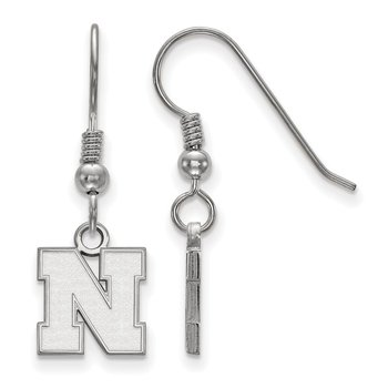 Sterling Silver University of Nebraska NCAA Earrings