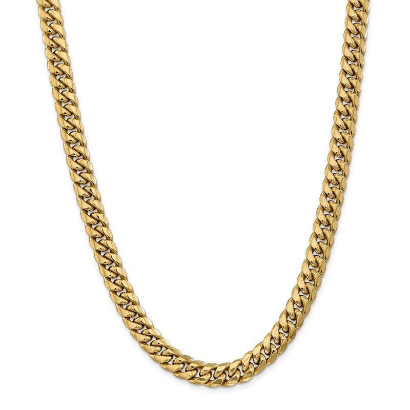 Quality Gold 14k 9.3mm Semi-Solid Miami Cuban Chain