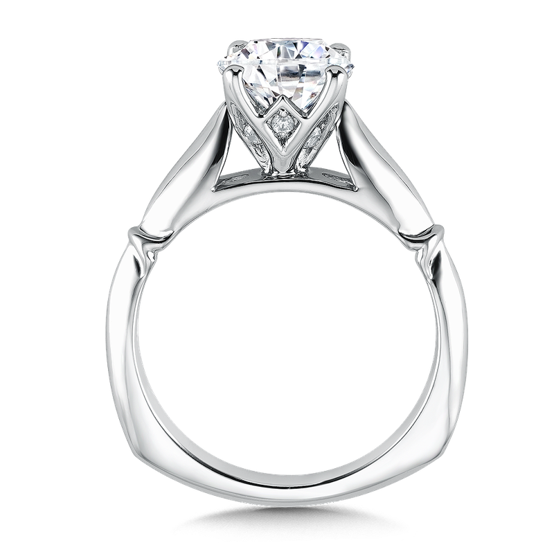 Valina Solitaire mounting .09 tw., 1 1/2 ct. round center.