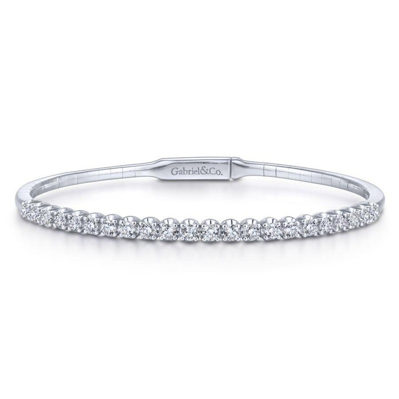 Gabriel  14K White Gold Diamond Bangle