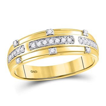 14kt Yellow Gold His & Hers Round Diamond Solitaire Matching Bridal Wedding Ring Band Set 3/4 Cttw