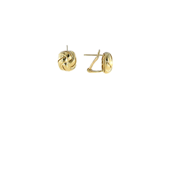 18Kt Gold Small Knot Earring