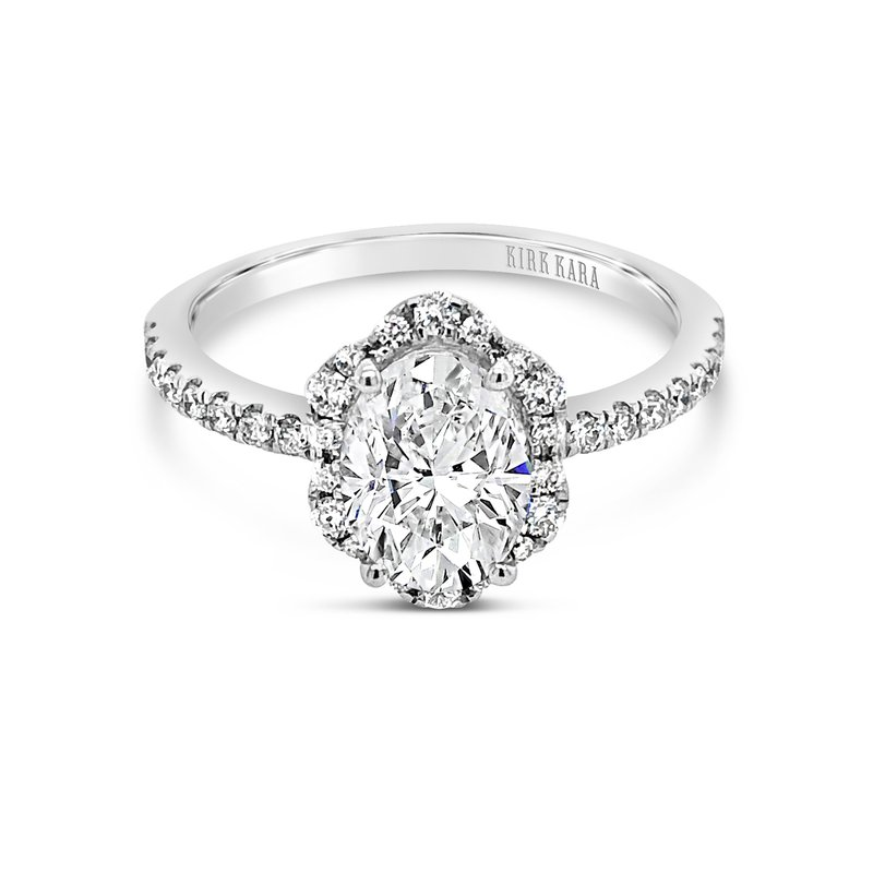 Kirk Kara Oval Halo Diamond Engagement Ring