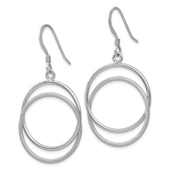 Leslie's Sterling Silver Polished Shepherd Hook Dangle Earrings