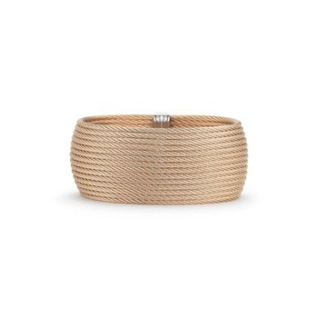 Rose Cable Oversized Cuff with 18kt White Gold