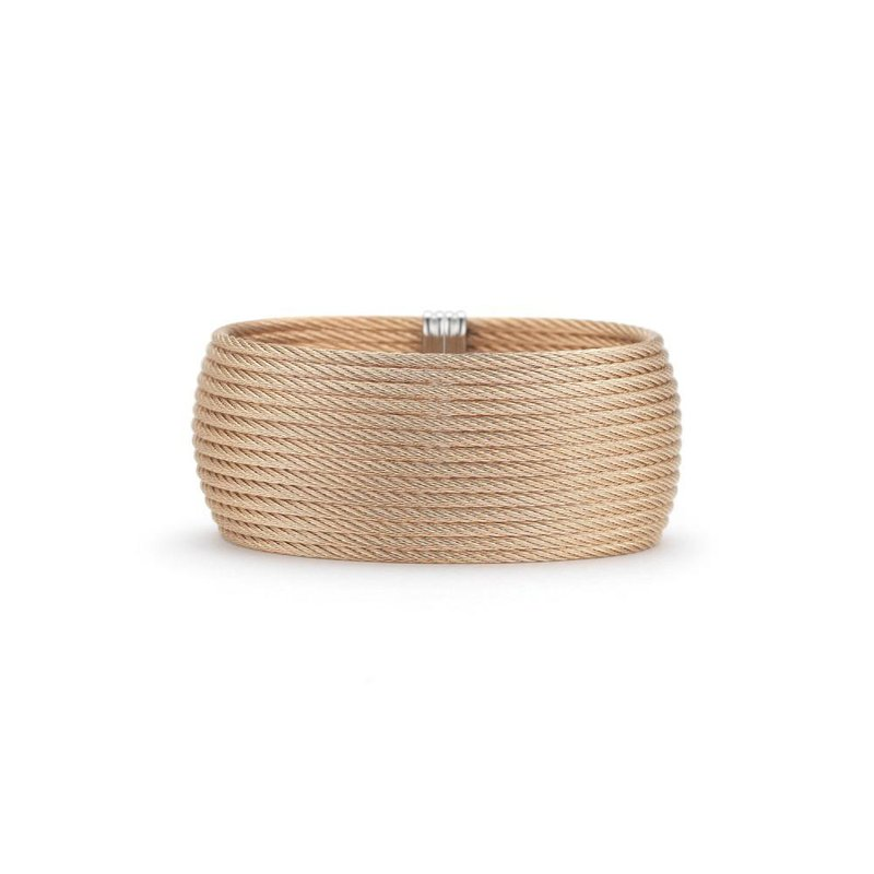 ALOR Rose Cable Oversized Cuff with 18kt White Gold
