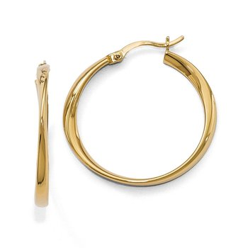 Leslie's Sterling Silver Gold-plated Polished Hoop Earrings