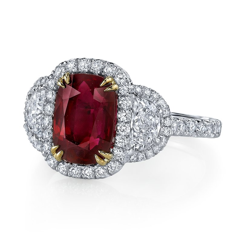 Omi Prive Ruby & Diamond Ring