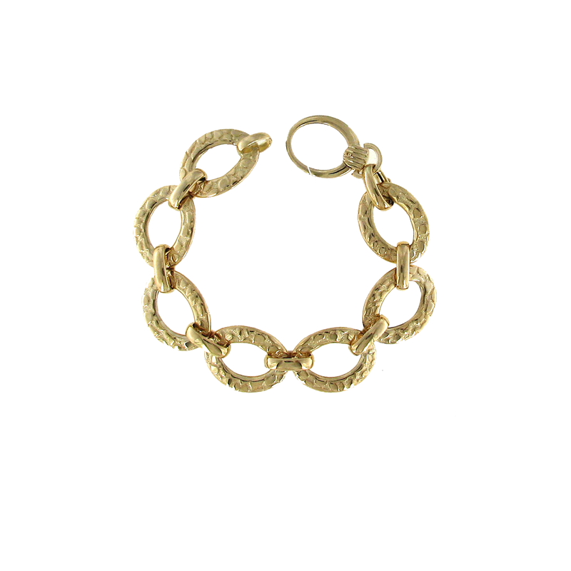 Roberto Coin 18Kt Yellow Gold Oaval Link Bracelet
