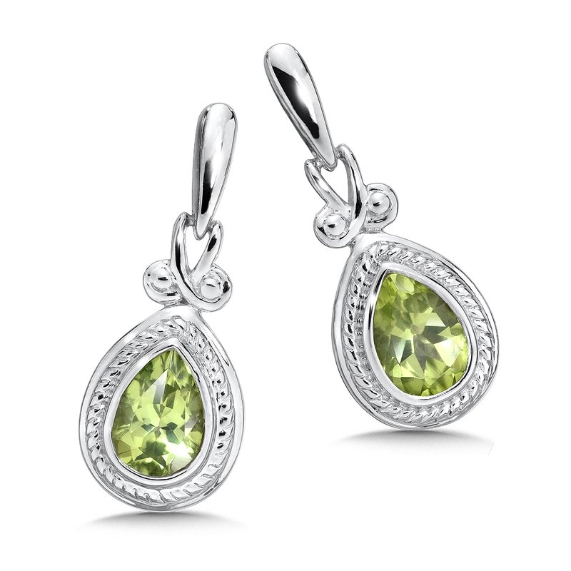 Colore Sg Sterling Silver Peridot Earrings
