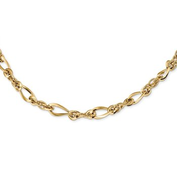14k Polished Fancy Link 18in Necklace