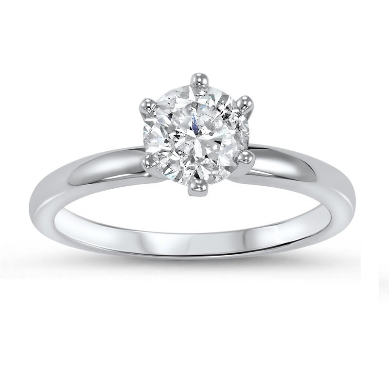 Bridal Bells 14K Diamond Solitaire Ring 3/4 ct