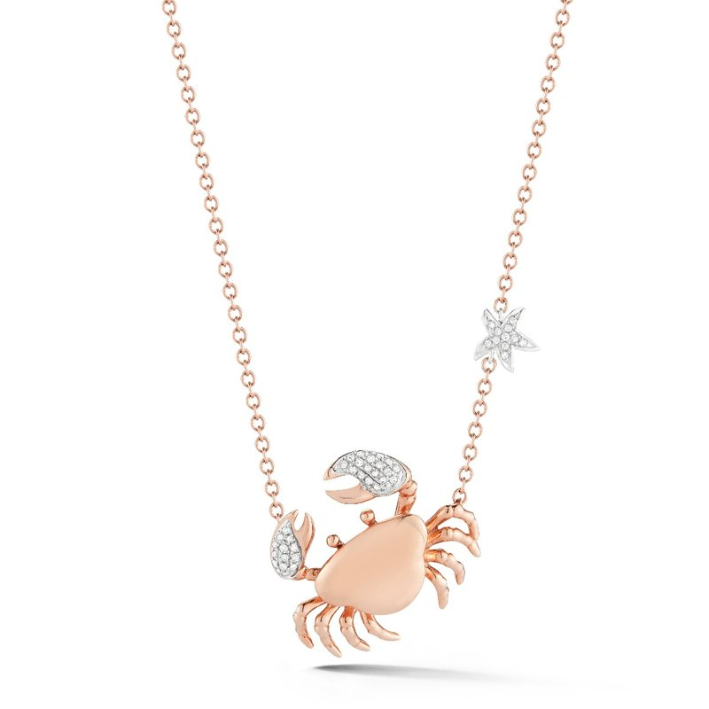 "Shula NY 14K Crab set with 44 diamonds T.W 0.15ct. 1/2"" diameter"